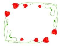 Il papavero fiorisce il blocco per grafici Fotografie Stock Libere da Diritti