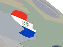 Il Paraguay con la bandiera Immagine Stock Libera da Diritti