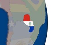 Il Paraguay con la sua bandiera Fotografia Stock Libera da Diritti