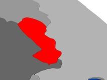 Il Paraguay nel rosso Fotografie Stock Libere da Diritti