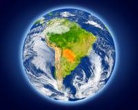 Il Paraguay su pianeta Terra Immagine Stock