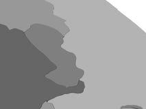 Il Paraguay sulla mappa grigia 3D Fotografie Stock Libere da Diritti