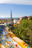 Il Parc Guell di Gaudi a Barcellona Fotografie Stock Libere da Diritti