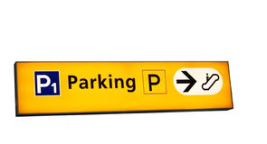 Il parcheggio canta immagine stock libera da diritti
