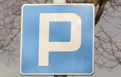 Il parcheggio canta Immagine Stock