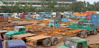 Il parcheggio del camion Fotografie Stock Libere da Diritti