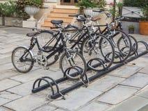 Il parcheggio della bicicletta Immagine Stock