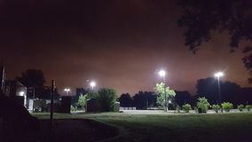 Il parco alla notte, più lontano Immagine Stock Libera da Diritti