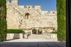 Il parco archeologico Davidson Center a Gerusalemme, Israele Immagine Stock Libera da Diritti