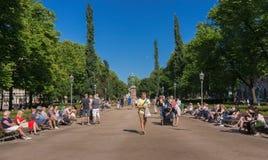 Il parco del lungomare Fotografie Stock