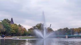 Il parco della città a Budapest ha chiamato Varosliget Video di lasso di tempo stock footage