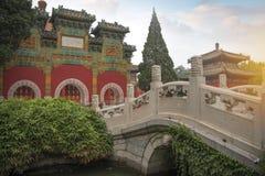 Il parco di Beihai è un giardino imperiale fotografie stock