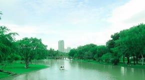 Il parco di Chatuchak è un parco nel cuore della capitale tailandese, situato a Bangkok Immagine Stock Libera da Diritti
