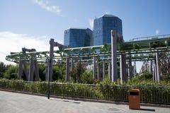 Il parco di divertimenti, architettura moderna Immagine Stock