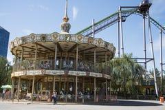 Il parco di divertimenti, architettura moderna Fotografie Stock Libere da Diritti