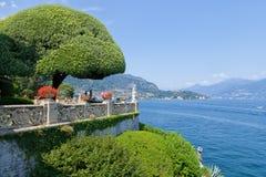 Il parco di Villa del Balbianello sul lago Como, Lenno, Lombardia, Italia Immagine Stock Libera da Diritti