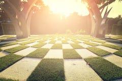 Il parco e l'alba perfetti in natura Immagini Stock Libere da Diritti