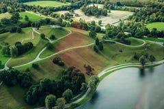 Il parco Monaco di Baviera Germania dello Stadio Olimpico Fotografie Stock Libere da Diritti