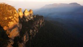 Il parco nazionale blu in Nuovo Galles del Sud, Australia delle montagne Fotografia Stock