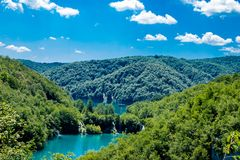 Il parco nazionale dei laghi Plitvice in Croazia Immagini Stock Libere da Diritti