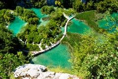 Il parco nazionale dei laghi Plitvice in Croazia Immagini Stock