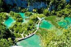 Il parco nazionale dei laghi Plitvice in Croazia Fotografia Stock Libera da Diritti