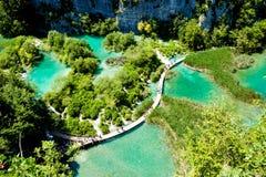 Il parco nazionale dei laghi Plitvice in Croazia Immagine Stock Libera da Diritti