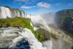 Il parco nazionale delle cascate di Iguazu, Foz fa Iguazu, Brasile fotografia stock libera da diritti