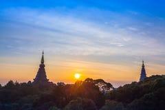 Il parco nazionale di Doi Inthanon è il più alta montagna della Tailandia Fotografie Stock Libere da Diritti