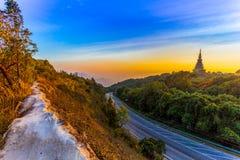 Il parco nazionale di Doi Inthanon è il più alta montagna della Tailandia Fotografia Stock Libera da Diritti