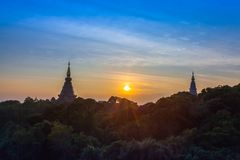 Il parco nazionale di Doi Inthanon è il più alta montagna della Tailandia Immagine Stock Libera da Diritti
