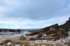 Il parco nazionale di Thingvellir Fotografia Stock