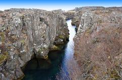 Il parco nazionale di Thingvellir Immagini Stock Libere da Diritti