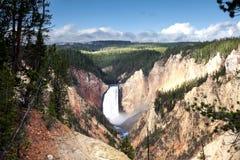 Il parco nazionale di Yellowstone abbassa le cadute Immagine Stock Libera da Diritti