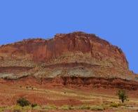 Il parco nazionale scanalato in della scogliera del Campidoglio della parete Fotografia Stock