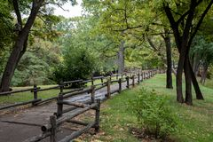 Il parco nel giorno di autunno Immagine Stock Libera da Diritti
