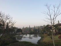 Il parco a nordico della Tailandia nell'inverno fotografie stock