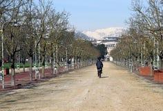 Il parco pubblico ha chiamato CAMPO MARZO a Vicenza, Italia Fotografia Stock