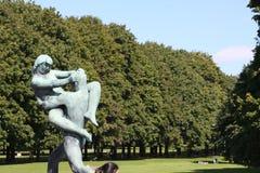 Il parco unico della scultura è lifework del ` s di Gustav Vigeland con più di 200 sculture in bronzo, granito e Immagini Stock Libere da Diritti