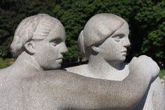 Il parco unico della scultura è lifework del ` s di Gustav Vigeland con più di 200 sculture in bronzo, granito e Immagine Stock Libera da Diritti