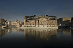 Il Parlamento alloggia a Stoccolma fotografia stock