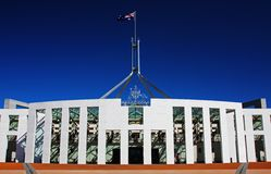 Il Parlamento australiano a Canberra Immagini Stock Libere da Diritti