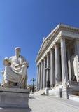 Il Parlamento austriaco a Vienna Immagine Stock
