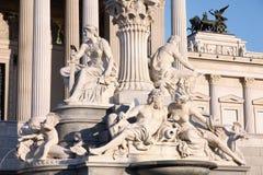 Il Parlamento austriaco a Vienna, Austria fotografie stock libere da diritti
