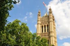 Il Parlamento britannico Fotografia Stock Libera da Diritti