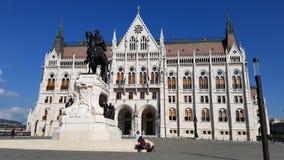 Il Parlamento a Budapest Fotografie Stock Libere da Diritti