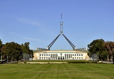 Il Parlamento che costruisce Canberra Immagine Stock Libera da Diritti