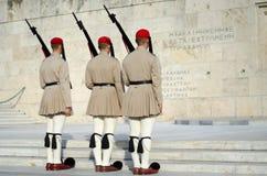Il Parlamento custodice, la Grecia Immagini Stock