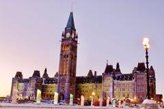 Il Parlamento del Canada Fotografia Stock