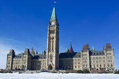 Il Parlamento del Canada Immagini Stock Libere da Diritti